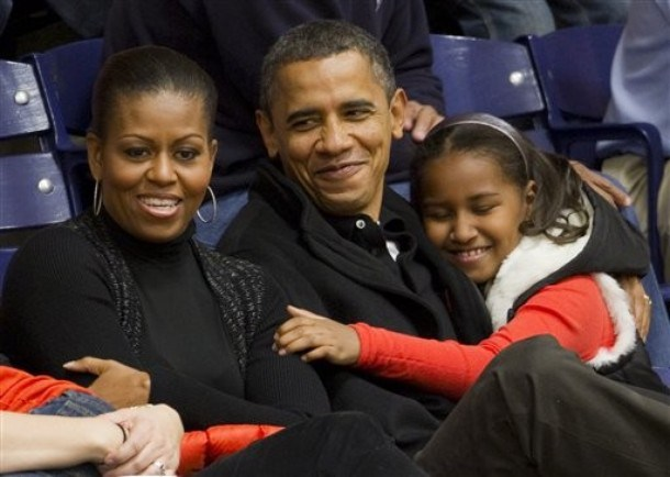 Barack Obama, Michelle Obama, Sasha Obama