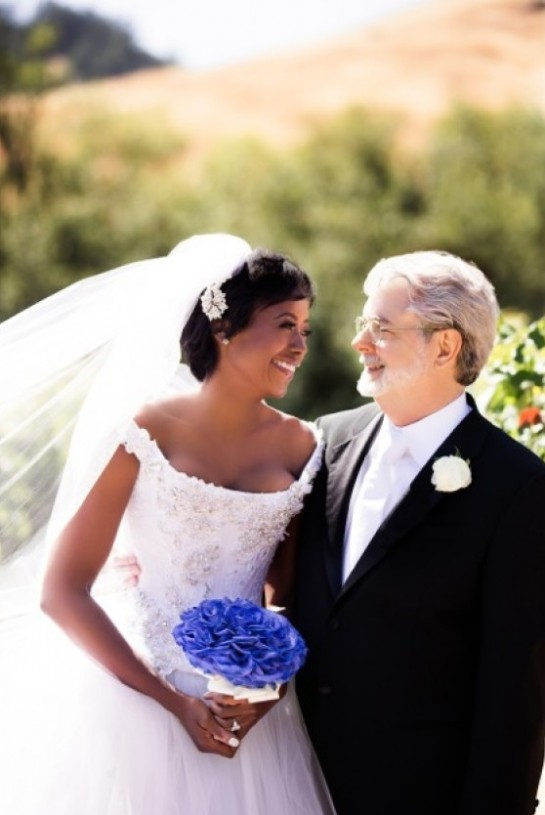 Over the weekend, financial expert Mellody Hobson married famed film director George Lucas.