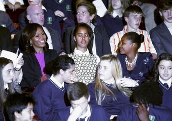 Michelle Obama, Malia Obama, Sasha Obama