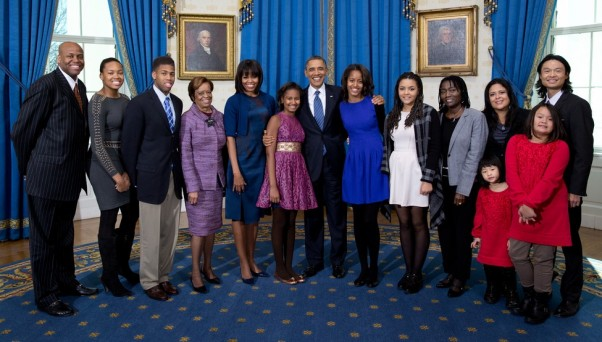 presidents family second swearing in at the white house