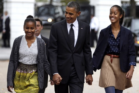 Barack Obama, Sasha Obama, Malia Obama
