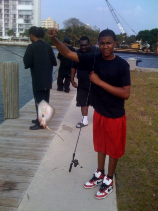 Trayvon Martin with fish