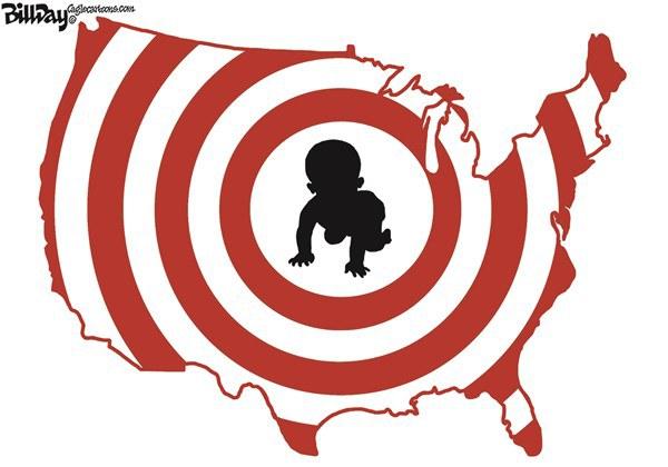 black baby as target