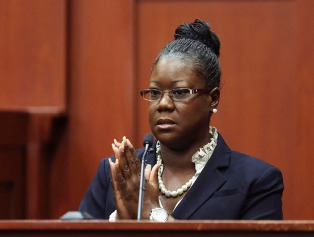 Image: Trayvon Martin's mother, Sybrina Fulton, takes the stand during George Zimmerman's trial in Seminole circuit court in Sanford