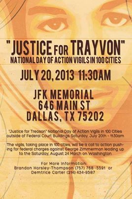 National Day of Action- Justice for Trayvon Martin