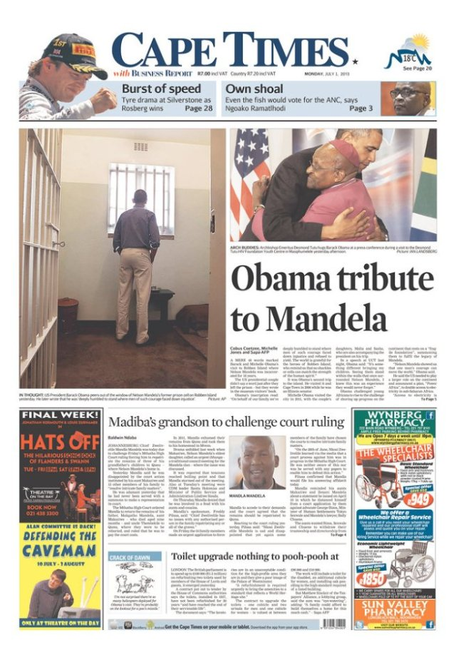 OBAMA FRONT PAGES AFRICA 2013-1