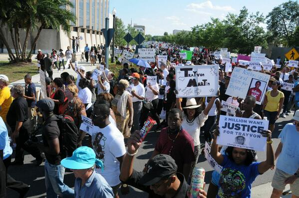 Supporters for Trayvon Martin