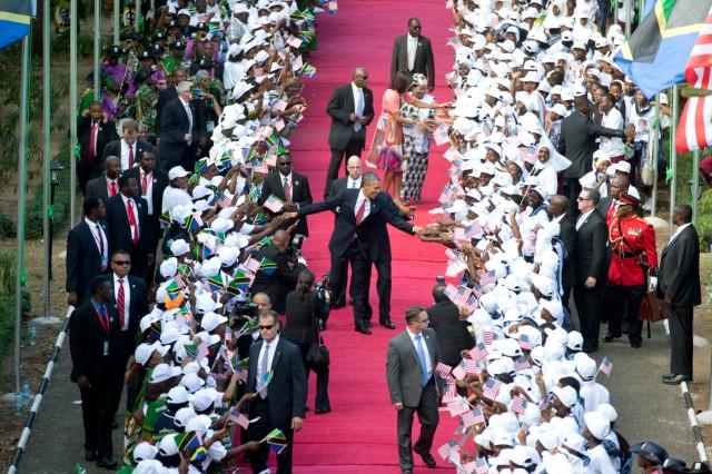 Michelle Obama, Salma Kikwete, Jakaya Kikwete, Barack Obama