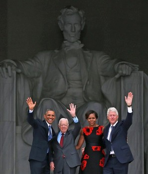 Obama, Former Presidents Commemorate 50th Anniversary Of MLK's March On Washington