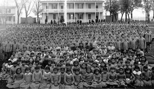Carlisle_pupils-Indian students sent to the Carlisle Indian Industrial School in Pennsylvania died by the hundreds from infectious diseases.