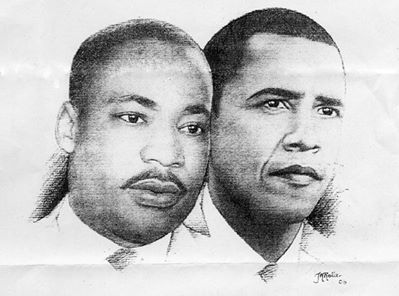 Dr. King and President Obama
