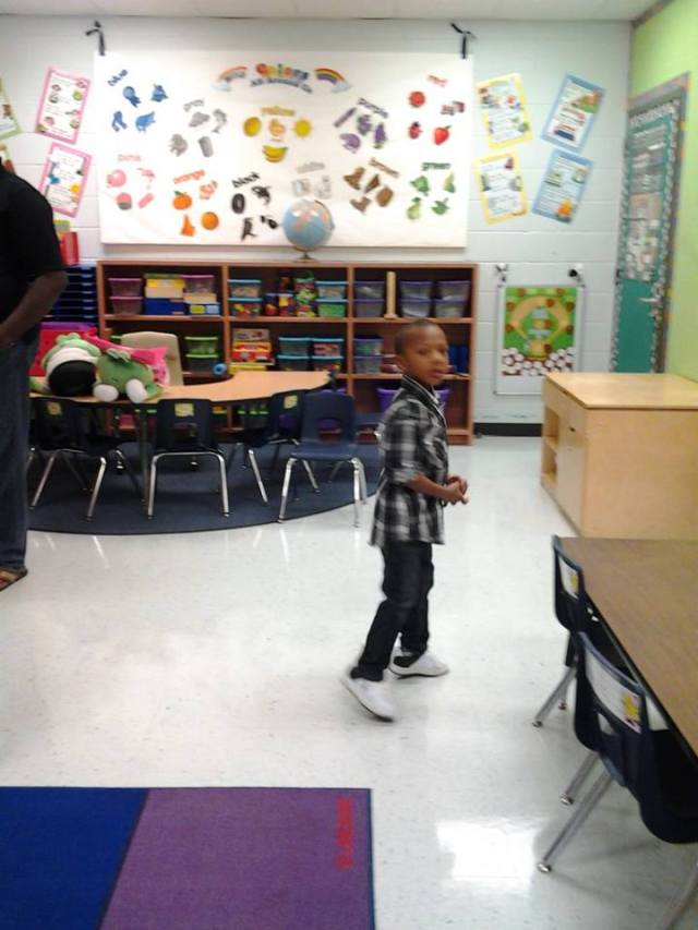 Jay at school