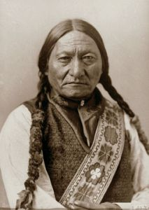 Sitting Bull was a medicine man, or holy man, of the Hunkpapa Lakota (Sioux), who were being driven from their land in the Black Hills. He took up arms against the white man, refusing to be transported to the Indian Territory. Under his leadership as a war chief, the Lakota tribes united in their struggle for survival on the northern plains.