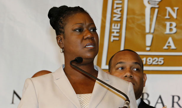 Sybrina Fulton speaks at the National Bar Association