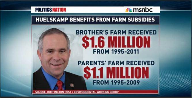 Huelskamp Farm subsidies