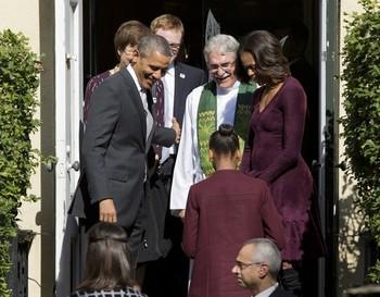 Barack Obama, Michelle Obama, Luis Leon