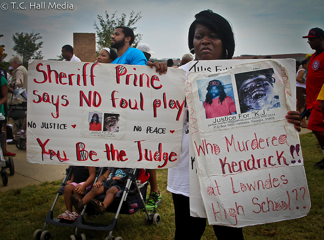 Kendrick Johnson protests