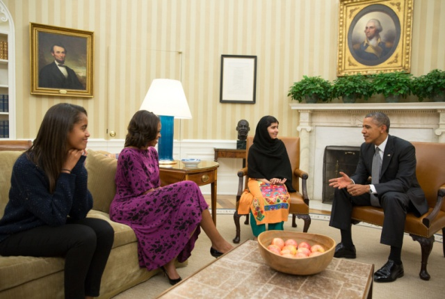 mallala from pakistan in the oval office