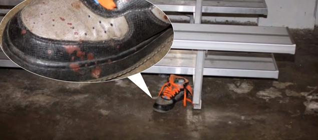 second shoe at the scene was not collected as evidence.