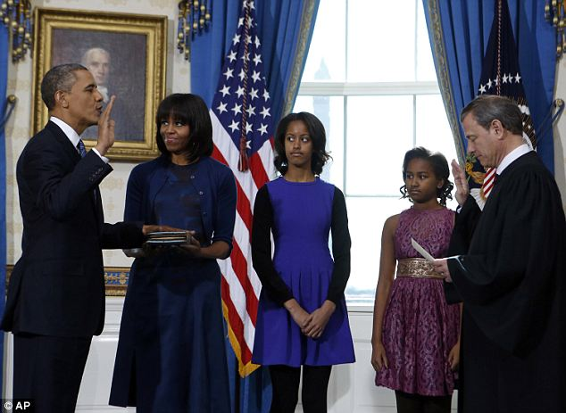 the first family as potus takes oath 2013-3