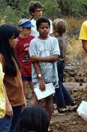 Curious child- photo of Barack Obama at a Punahou school event in Hawaii, in 1972.