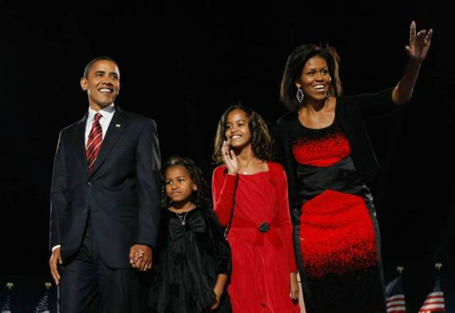 obama family election night 2008 _new first family