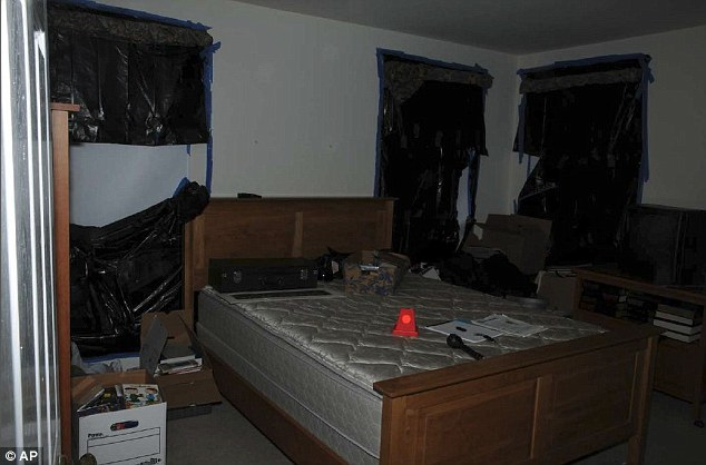 Adam Lanza- bedroom with black trash bags covering windows