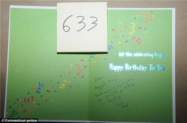 Adam Lanza birthday card