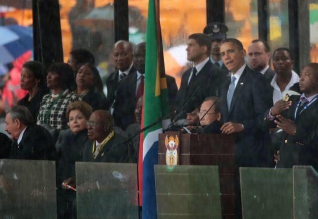 Barack Obama - While I will always fall short of Madiba's example,he makes me want to be a better man