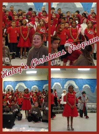 Haley's Christmas program