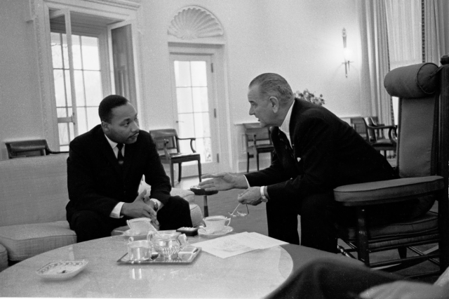 Dr. King with LBJ