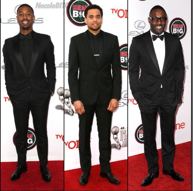 Michael-B.-Jordan-Michael-Ealy-Idris-Elba-at-the-2014-NAACP-Image-Awards