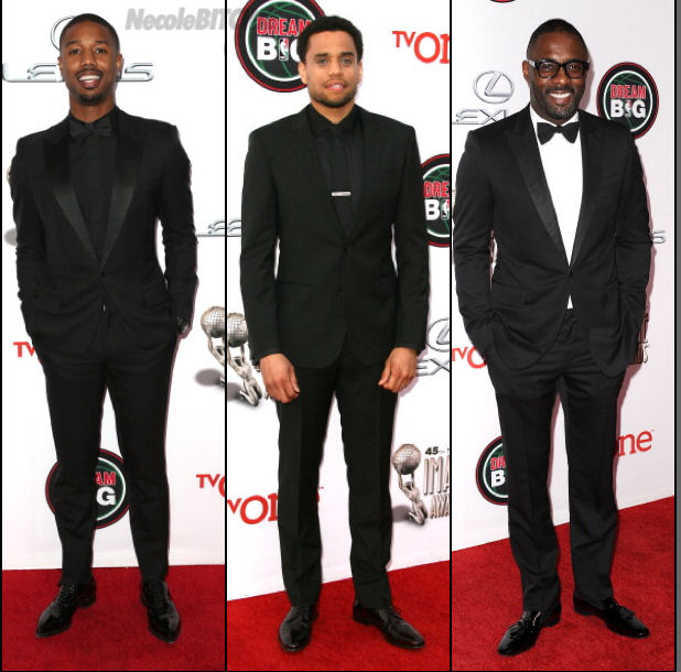 Michael-B.-Jordan-Michael-Ealy-Idris-Elba-at-the-2014-NAACP-Image-Awards