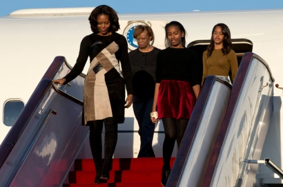 Michelle Obama, Sasha Obama, Malia Obama, Marian Robinson