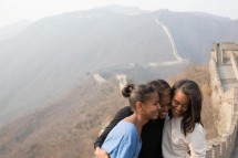 FLOTUS and Daughters at Great Wall of China