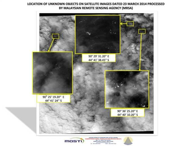 MH370 SATELLITE IMAGES