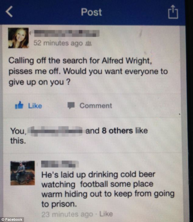 Sheriff Maddox's own men responded to a Facebook posting questioning, Would you want everyone to give up on you