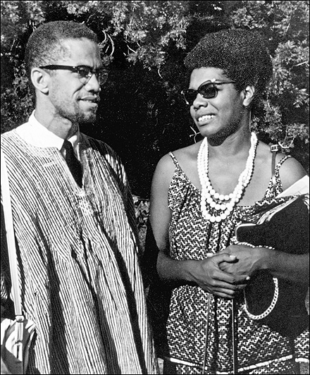 angelou and malcolm x
