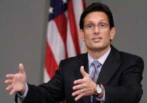 House Majority Leader Eric Cantor speaks at Northwestern University's Kellogg School of Management in Evanston
