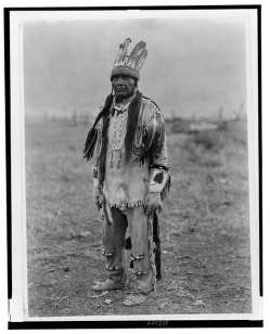 Edward S. Curtis Collection- A Klamath in costume