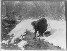 Edward S. Curtis Collection- A winter day- Apsaroke
