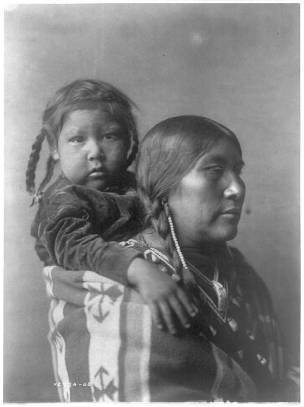 Edward S. Curtis Collection- Apsaroke mother