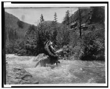 Edward S. Curtis Collection- Bullchief at the ford