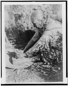 Edward S. Curtis Collection- Grinding wokas