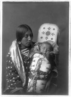Edward S. Curtis Collection- Mother and child - Apsaroke