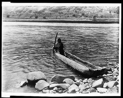 Edward S. Curtis Collection- Nez Perce canoe