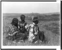 Edward S. Curtis Collection- Overlooking the camp -Piegan
