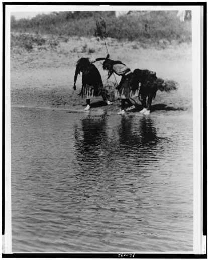 Edward S. Curtis Collection- Water rite purification, Cheyenne animal dance