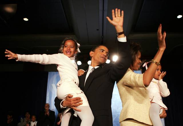 Senate Hopeful Barack Obama Waits For Election Results
