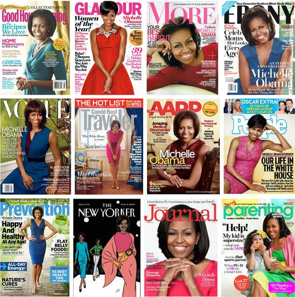 MICHELLE OBAMA MAGAZINE COVERS
